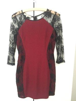 Parisian Sheath Dress black-bordeaux