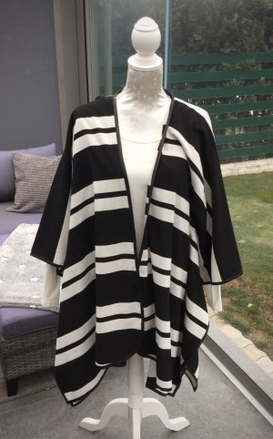 H&M Premium Cape black-white