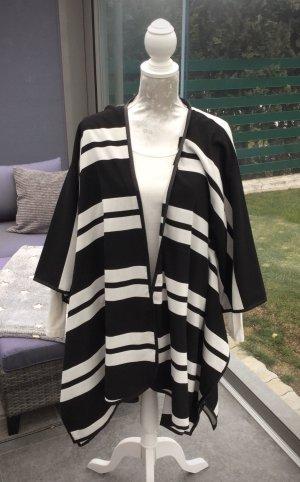 H&M Premium Capa negro-blanco