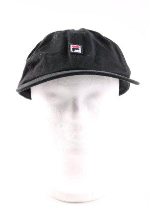 Fila Basecap schwarz Schriftzug gestickt Casual-Look