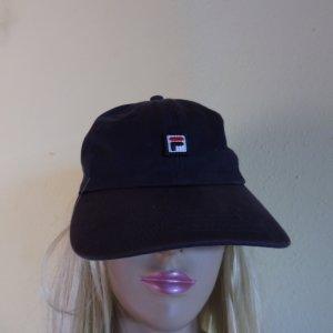 Fila Gorra de béisbol azul oscuro Algodón