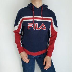 Fila Blau Rot Weiß Cardigan Strickjacke Oversize Pullover Hoodie Pulli Sweater Top True Vintage