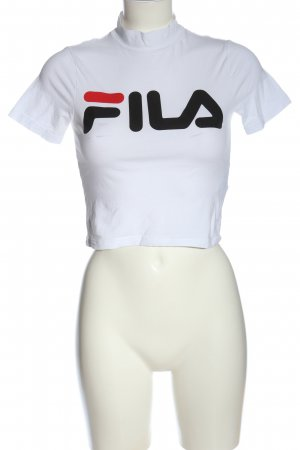 Fila Cropped Shirt white-black printed lettering casual look