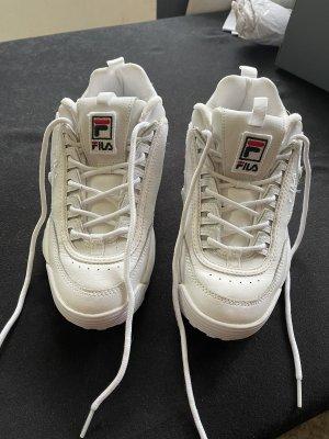 Fila Zapatillas con tacón blanco
