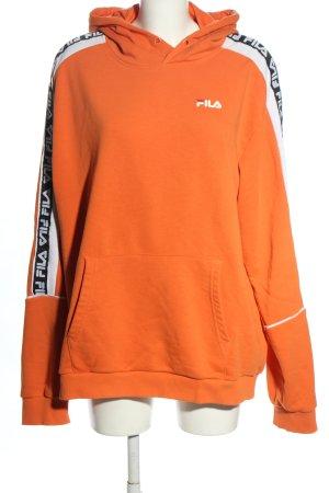 Fila Kapuzensweatshirt Schriftzug gedruckt sportlicher Stil