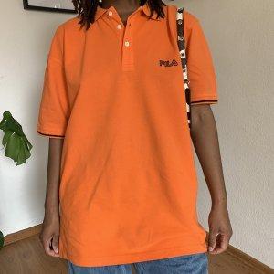 Fila Polo Shirt orange cotton