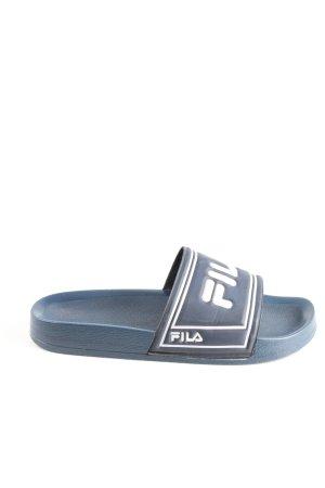 Fila Scuffs blue-white printed lettering casual look