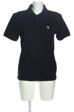 Fila Polo-Shirt schwarz Casual-Look
