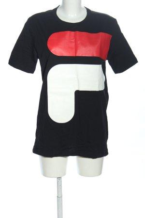 Fila Print-Shirt Motivdruck Casual-Look