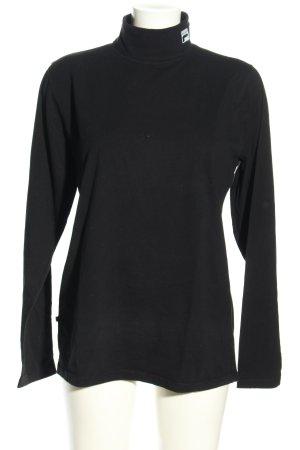 Fila Colshirt zwart casual uitstraling
