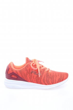 Fila Schnürsneaker rot-braun Allover-Druck Casual-Look