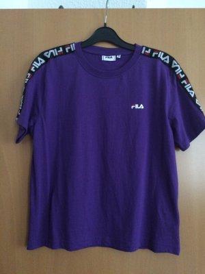 Fila Sports Shirt dark violet cotton