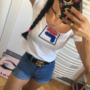 FILA Shirt Crop Top Poloshirt Cropped Damen T-Shirt Gr:S