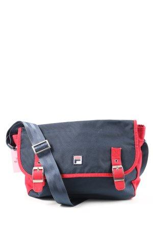Fila Bolso de tela azul-rojo Patrón de tejido look casual