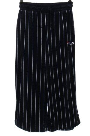 Fila Pantalone fitness nero-bianco motivo a righe stile casual