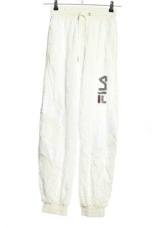 Fila Pantalon de jogging blanc cassé style décontracté