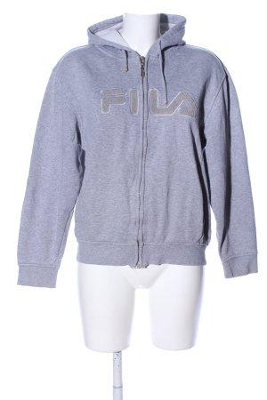 Fila Chaqueta de tela de sudadera gris claro moteado look casual