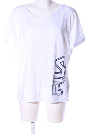 Fila T-Shirt weiß Schriftzug gedruckt Casual-Look