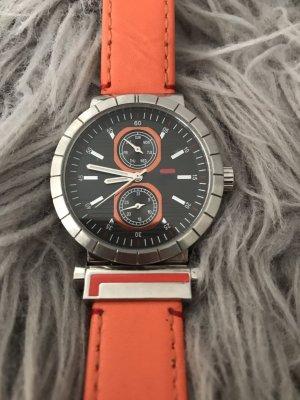 Fila Reloj con pulsera de cuero naranja