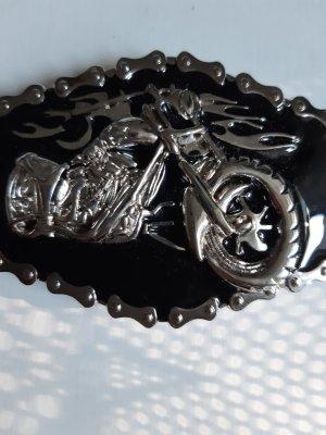 Unbekannte Marke Belt Buckle black-silver-colored metal