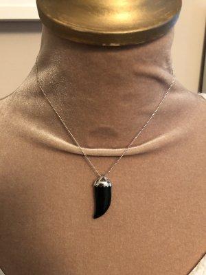 Unbekannter designer Zilveren ketting zilver-zwart