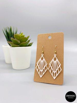 Filigrane, minimalistische Ohrringe in gold, 3D Druck - handgemacht, Geometrische Ohrhänger aus Edelstaahl, Geschenk für Frau – PASSIFLORA