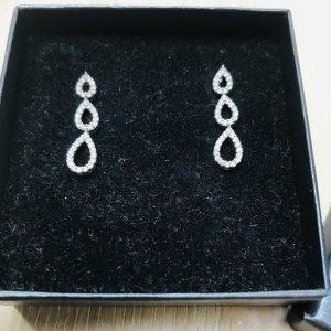 Silver Earrings white-light grey