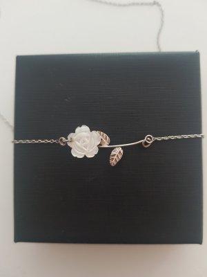 Cadena de plata color plata-rosa