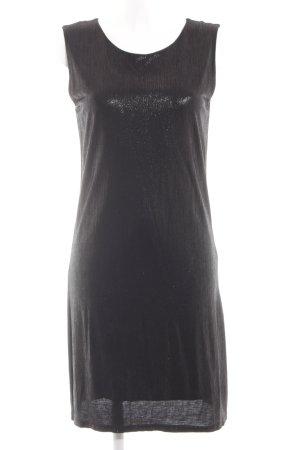Filippa K Abendkleid schwarz Glanz-Optik
