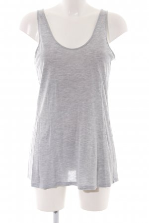 Filippa K Basic Top hellgrau meliert Casual-Look