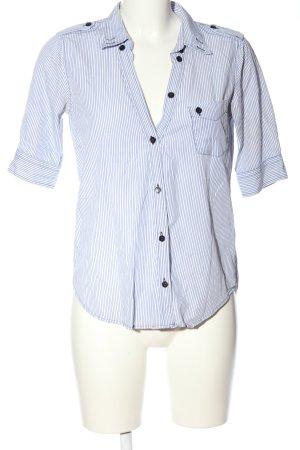 Filippa K Hemd-Bluse blau-weiß Allover-Druck Casual-Look