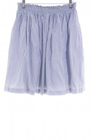 Filippa K Rok met hoge taille wolwit-leigrijs gestreept patroon elegant