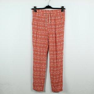FILIPPA K Hose Gr. XS orange weiß gemustert (20/02/125*)