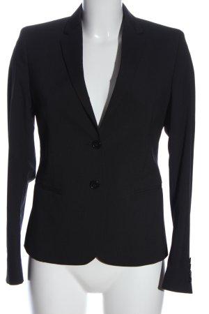 Filippa K Korte blazer zwart gestreept patroon zakelijke stijl