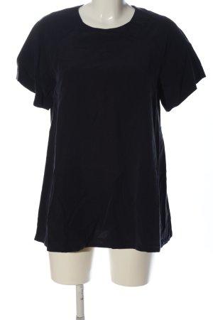 Filippa K Kurzarm-Bluse schwarz Casual-Look
