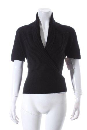 Filippa K Kurzarmpullover schwarz schlichter Stil
