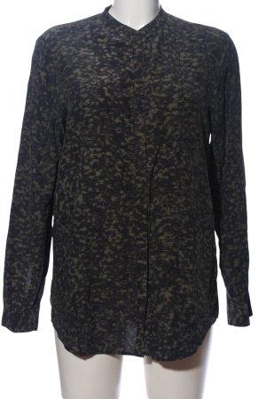 Filippa K Camicia a maniche lunghe marrone-nero Motivo mimetico stile casual
