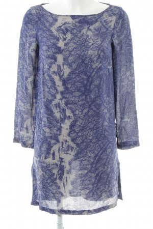 Filippa K Shirtkleid blau-weiß abstraktes Muster Elegant