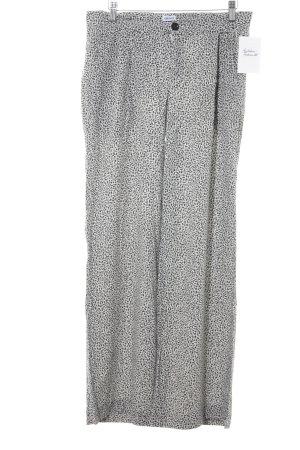 Filippa K Stoffhose schwarz-wollweiß abstraktes Muster Casual-Look