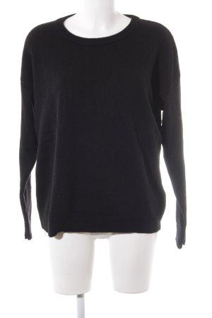Filippa K Maglione lavorato a maglia nero stile semplice