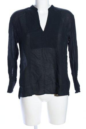 Filippa K Transparenz-Bluse schwarz Casual-Look