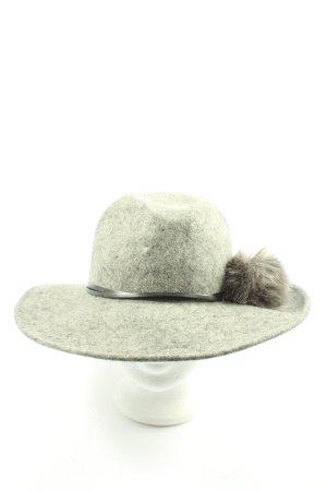 Filippo Catarzi Wełniany kapelusz jasnoszary Melanżowy W stylu casual