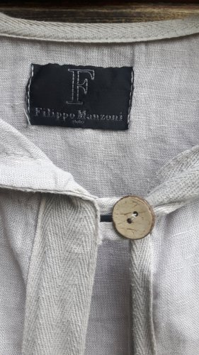 Filippo Manzoni Leinen Longjacke Mantel Gr.XS/34 Sandfarben