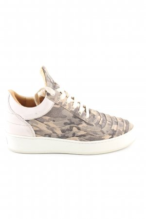 Filling Pieces Schnürsneaker hellgrau-wollweiß Camouflagemuster Casual-Look