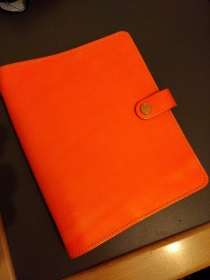Filofax Porte-cartes orange fluo cuir