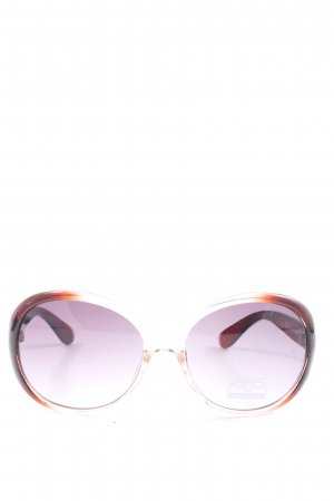 Filtral Lunettes de soleil rondes blanc-brun gradient de couleur