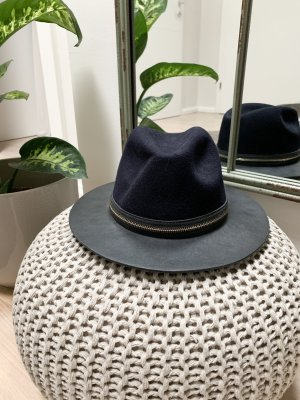 Zara Felt Hat black-dark blue