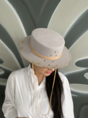 Handmade Felt Hat light grey