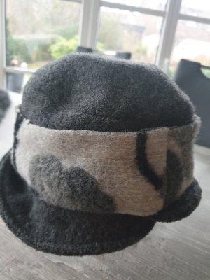 Chapeau en feutre gris clair-gris foncé
