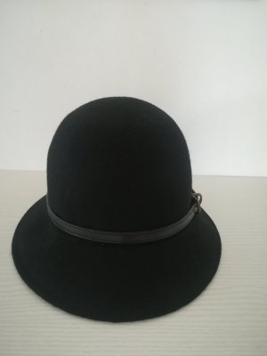 H&M Sombrero de fieltro negro Lana